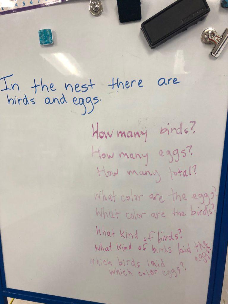 numberless word problems kindergarten