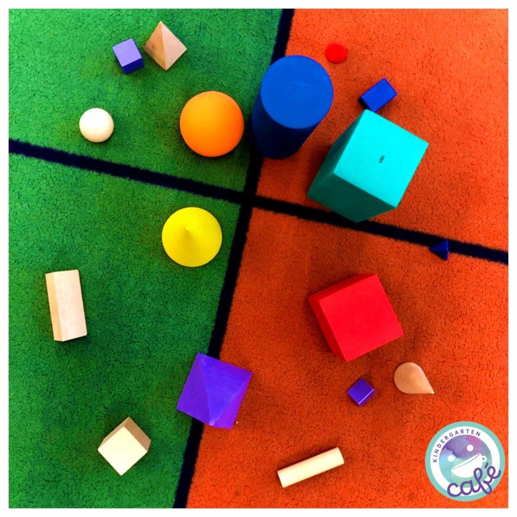 3d shapes in kindergarten