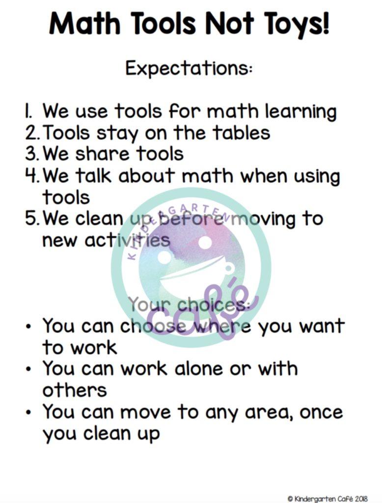 math tools for kindergarten