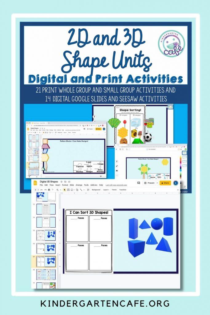 3d shapes for kindergarten