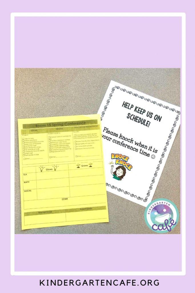parent teacher conferences forms